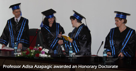 Professor Adisa Azapagic awarded an Honorary Doctorate
